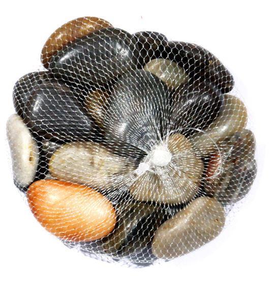 Deko steine im netz bunt 1 kg sonderzubeh r for Schwarze steine deko